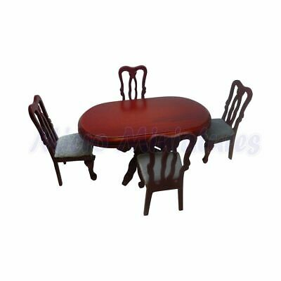 Dolls House Dining Table and chairs 1/12th Scale (00353)