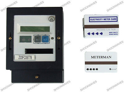 AMPY Cardmeter Prepayment Electric Slot Meter & 150 x £5 Cards Electricity 100A