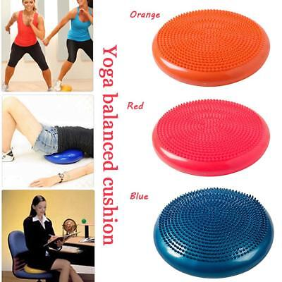 Gym Yoga Balance Board Disc Stability Air Cushion Wobble Pad Physio w/ Pump