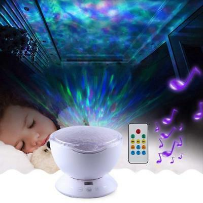 Multicolor 2W LED Remote Control Ocean Wave Projector 12 LED 7 Colors Night Ligh