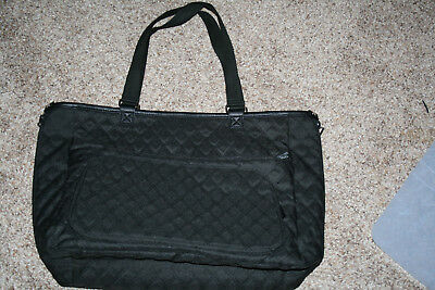 Thirty One Double Take Tote in Black Quilted Diamonds Reversible Moosing Around!