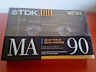 CASSETTE TAPE BLANK SEALED - 1x (one) TDK MA 90 [1990-92] METAL made in Germany