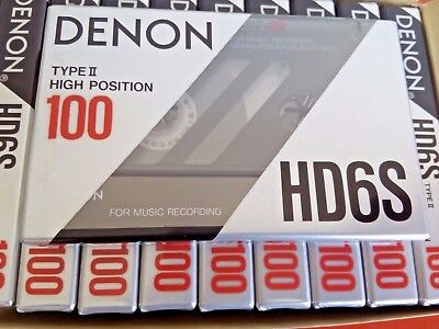 CASSETTE TAPE BLANK SEALED - 1 x (one) DENON HD6S 100 [1990-91] - MADE IN JAPAN