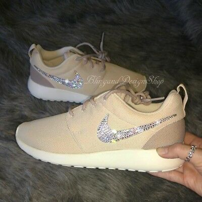 878ebc3e2fab5 NWT Womens Nike Roshe One Nike Shoe Custom with Swarovski Crystal  Rhinestones