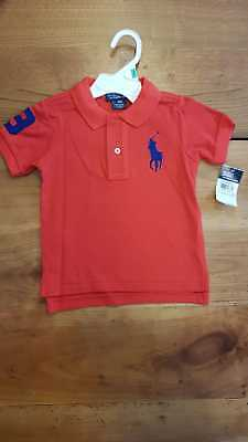 POLO RALPH LAUREN Enfant Rouge 18 mois grand poney - EUR 24,49 ... 0338c229745