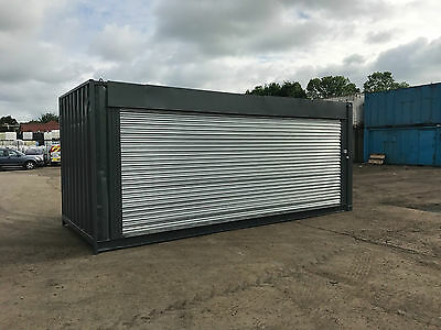 20ft x 8ft Side Roller Shutter Shipping Container - North Wales
