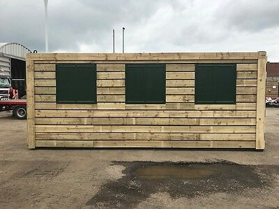 20ft x 8ft Cladded Shipping Container - North Wales