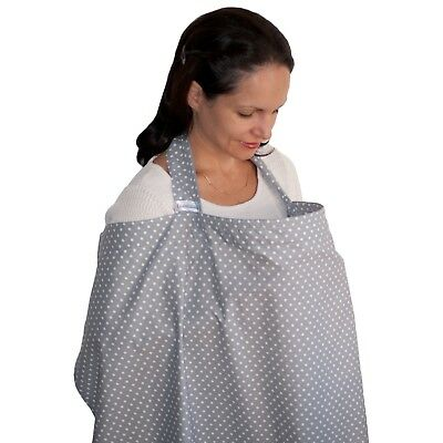 Nursing Cover Privacy 100% Cotton Breastfeeding Cover Baby Apron Cover Up Public