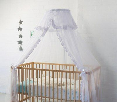 NEW Sweet Dreams Cot Halo Stand and Net White from Baby Barn Discounts