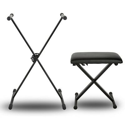 Musician's Gear KBX1 Single-braced Keyboard Stand and Padded Piano Bench