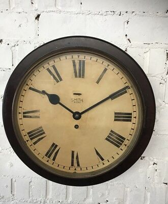 Art Deco Bakelite Gpo Post Office Clock, GR V Original Wall Clock -