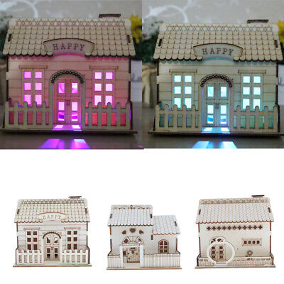 DIY Wooden Dollhouse Assembled Furniture Doll House Christmas Gift