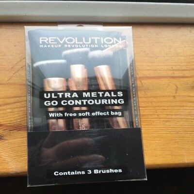 Makeup Revolution Ultra Metals Go Contouring Brushes.