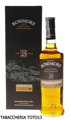 Bowmore 25 years old small batch release Vol.43% Cl.70