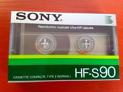 CASSETTE TAPE BLANK SEALED - 1x (one)  SONY HF-S 90  [1985] made in France