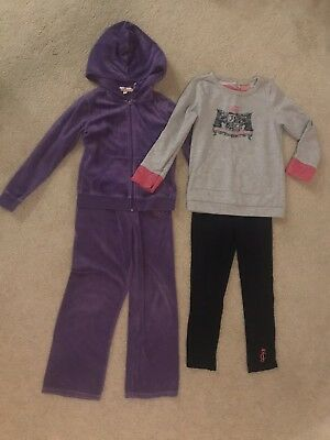 Juicy Couture Girls Size 6 Tracksuit & Outfit GUC