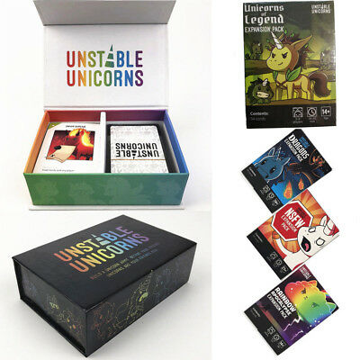 Unstable Unicorns Core Card Base Game With All Expansion Pack New Sealed