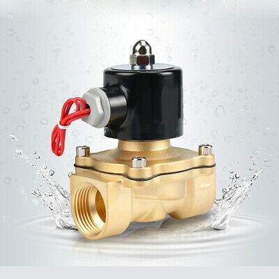 """1Pcs DC12V Electric Solenoid Valve BSP 1/2"""" Brass Water Air Oil Normally Closed"""