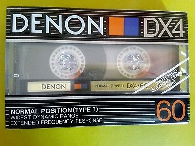 CASSETTE TAPE BLANK SEALED - 1x (one) DENON DX4 60 [1988-90] made in Japan