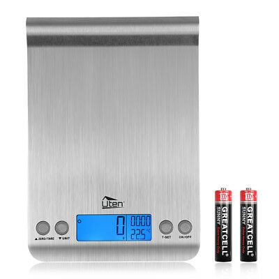 Kitchen Electronic Food Weighing Scale Digital Measuring Gram Accurate & Timer