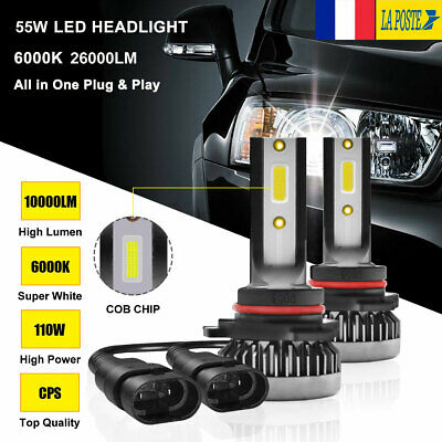 110W 9005 HB3 20000LM voiture LED phare ampoules lampes Feux Kit Blanc 6000K