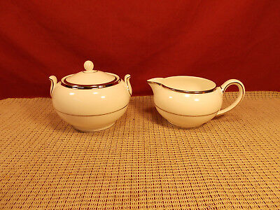 Wedgwood China Carlyn Pattern Sugar & Creamer Set