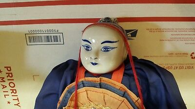Vintage Chinese Porcelain Doll; Porcelain Head, Hands, Feet, 25 Inches Tall!