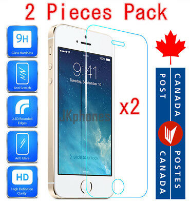 Premium Tempered Glass Screen Protector For iPhone SE iPhone 5C 5S 5 (2 PACK)