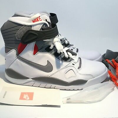 c7b2a0401a99 NIKE AIR PRESSURE WHITE CEMENT GREY ORANGE GAMMA 831279 100 Sz 10.5 No Box