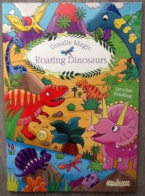 NEW Roaring Dinosaurs Colouring Book Creative Children's Activity Holiday