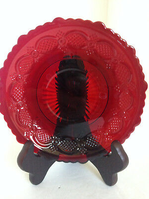 Vintage Avon Ruby Red Saucer Plate 1876 Cape Cod Collection