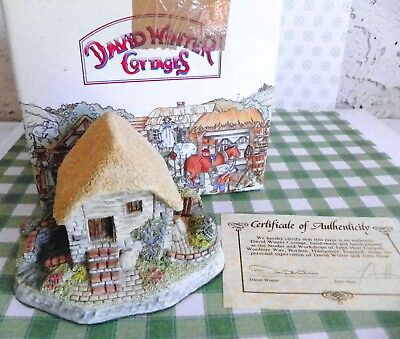 "David Winter Cottages ""Irish Water Mill"" 1991 Member Only Cottage COA"