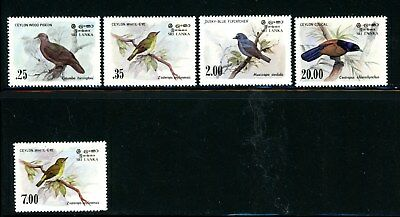 Sri Lanka Scott # 691 - 694, 877 - MNH - CV=$8.15