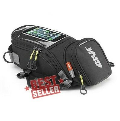 Premium Givi Black Fuel Tank Bag Bike Motorcycle Magnetic Outdoor Wallet Gear