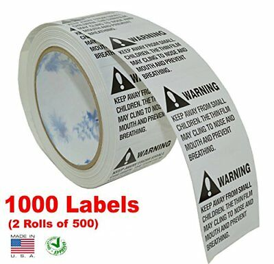 iMBAPrice® Suffocation Warning Labels Made in USA 1000 Labels 2 Rolls of 500 & -