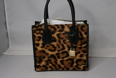 268266595c0e MICHAEL Michael Kors Mercer Studio Leopard Calf MD Messenger Bag -  Butterscotch