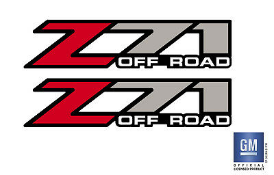 1999-2007 Chevy Silverado GMC Sierra Z71 OFF ROAD Bed Side Decal Stickers Set 2