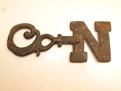 Antique Primitive AAFA Wrought Iron Weathervane Directional Arrow Rustic VTG N 2