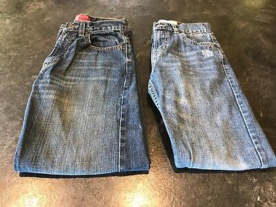 Boys Levi's Distressed Jeans (Lot Of 2 Pair) - Size 14 Slim