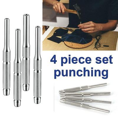 Forged Steel Roll Up Punch Pin Set Agate Jade Working Hollow Punching Tools Kits