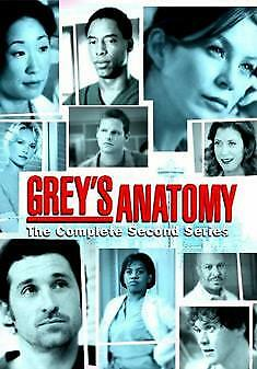 Grey's Anatomy: Complete Second Season =Region 2 DVD,sealed=
