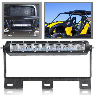 "SINGLE ROW 10"" PODS LED LIGHT BAR Combo Offroad FOR 2014-2016 Can-Am Maverick"