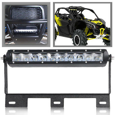 DOT SINGLE ROW 10 inch spot Fog LED LIGHT BAR Combo Offroad FOR Can-Am Maverick