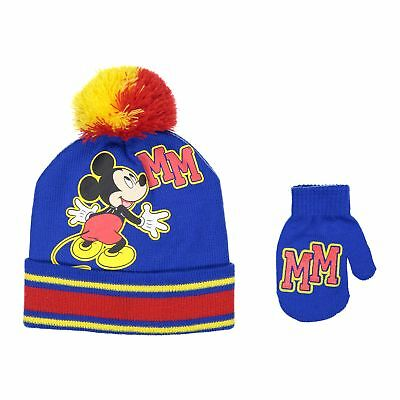 49f8e9329ee Disney Mickey Mouse Boys Beanie Knit Winter Hat And Mitten Set - Toddler  Size