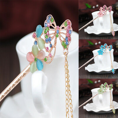 Chinese Style Rhinestone Hairpin Ancient Costume Hair Accessories Hair Stick