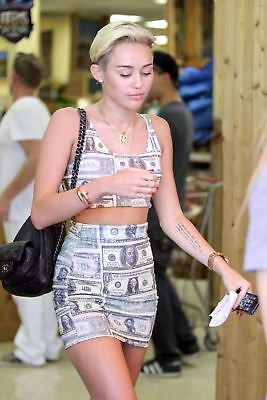Miley Cyrus With Money Clothes 8x10 Photo Print