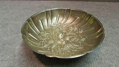 RARE 1920's S KIRK & SON Sterling Silver #430 REPOUSSE BERRY DISH Bowl  ESTATE