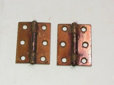 "Antique 2 Stanley Sweetheart door cabinet hinges 1 5/8"" X 2 3/16"" 3 sets 2 avail"