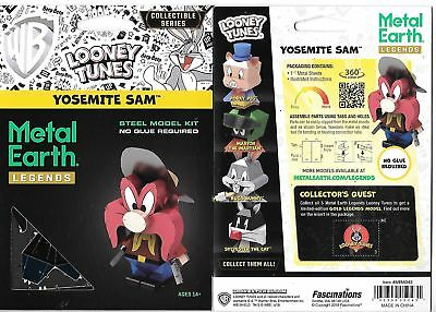Looney Tunes Yosemite Sam Metal Earth Legends 3-D Laser Cut Steel Model Kit NEW