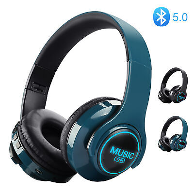 Sport Bluetooth Headphones Wireless Neckband Earbuds In Ear Headset Magnetic